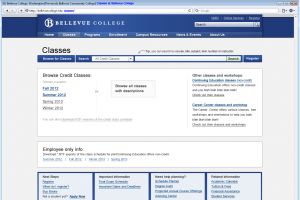 Home page with new college design