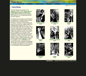 hand series page screenshot