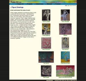 screenshot of figure drawings page