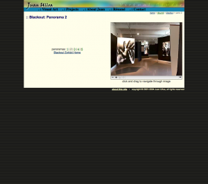 screenshot of gallery walkthrough